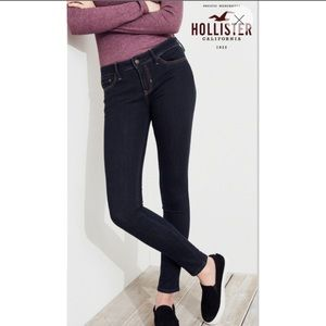 Hollister Women's Skinny Low-rise Dark Wash Jeans